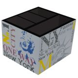 Porta-Controle New York 4 Divisões  12x12x9cm Preto Kapos