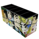 Porta-Controle Quadrinhos 5 Divisões  10x22x8cm Colorido Kapos