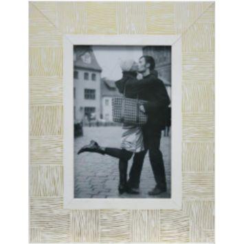 Porta - Retrato 1 Foto 15x21 cm 15 x 21 cm Branco com Dourado Kapos Kapos