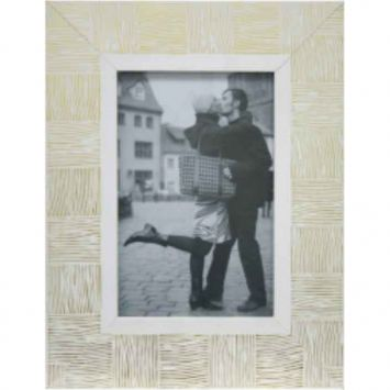 Porta - Retrato 1 Foto 20x25 cm Branco com Dourado Kapos Kapos