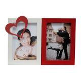 Porta-Retrato Love II 2 Fotos 10x15cm  Branco, Vermelho Kapos
