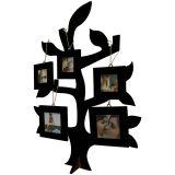 Porta-Retrato de Mesa Árvore da Família 3 Fotos 5x5cm e 2 Fotos 7x7cm  50x35cm Preto Kapos