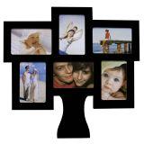 Porta-Retrato de Parede Árvore da Família 6 Fotos 10x15cm  Preto Kapos