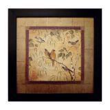 Quadro Birds II Imbuia 35X35 cm Kapos