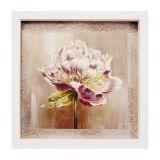 Quadro Caixa Flower I Branco 33X33 cm Kapos