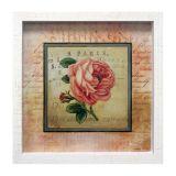 Quadro Caixa Rosa I Branco 33X33 cm Kapos