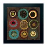 Quadro Circle II Preto 35X35 cm Kapos