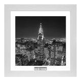 Quadro Contemporâneo Cidades Branco 33x33 cm