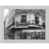 Quadro P&B Contemporâneo Café 18 x 23 cm Branco