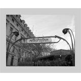 Quadro P&B Contemporâneo Metropolitan 18 x 23 cm Branco