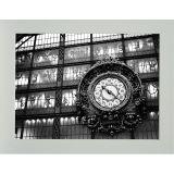 Quadro P&B Contemporâneo Relógio 18 x 23 cm Branco