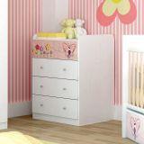 Cômoda Infantil Dreams -IF245 5 GV Branca & Rosa Kappesberg