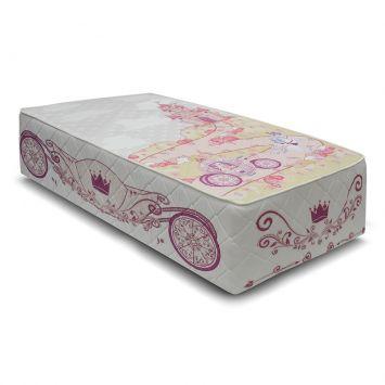 Cama Box Conjugado Molas Bonnel Solteiro Princesa Rosa Kappesberg CBB001 - 088 - 090