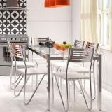 Conjunto de Mesa com 6 Cadeiras Branco Reno com Nápolis Kappesberg