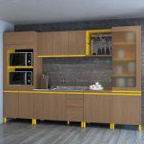 Cozinha Completa New Urban II Nature e Amarelo