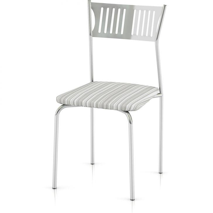 Kit de 2 Cadeiras Irlanda Branca e Cinza com listras Indianas |Kappesberg