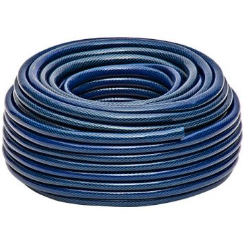Mangueira Pvc 1/2 Azul / Preto 50 Metros