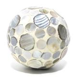 Bola De Cerâmica Decorada Com Madrepérola