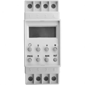 Timer Digital para trilho - 127V Branco DNI6620