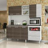 Kit de Cozinha Jade C/ Tampo 7 PT 2 GAV Branco Com Dubai E Rovere Kit'S Paraná