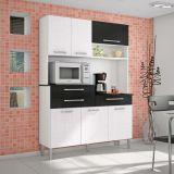 Kit de Cozinha Orion 6 PT 3 GV MDP Linho Branco & Linho Preto