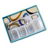Kit para Banheiro Bubble Azul - 7 peças - BathInc