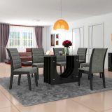Conjunto de Mesa 1,90x90 e Cadeiras de Jantar mais Aparador Prteto Dunnas LJ Móveis