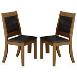 Kit 2 Cadeiras Futura Amendoa Lj Móveis