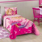 Colcha Barbie Sereia 150x210 Lepper