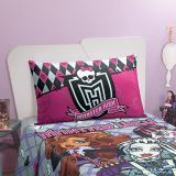 Fronha Monster High Pink & Preto 50x70cm Lepper