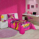 Jogo De Cama Barbie Super Princesa 3 Peças 210 Cm
