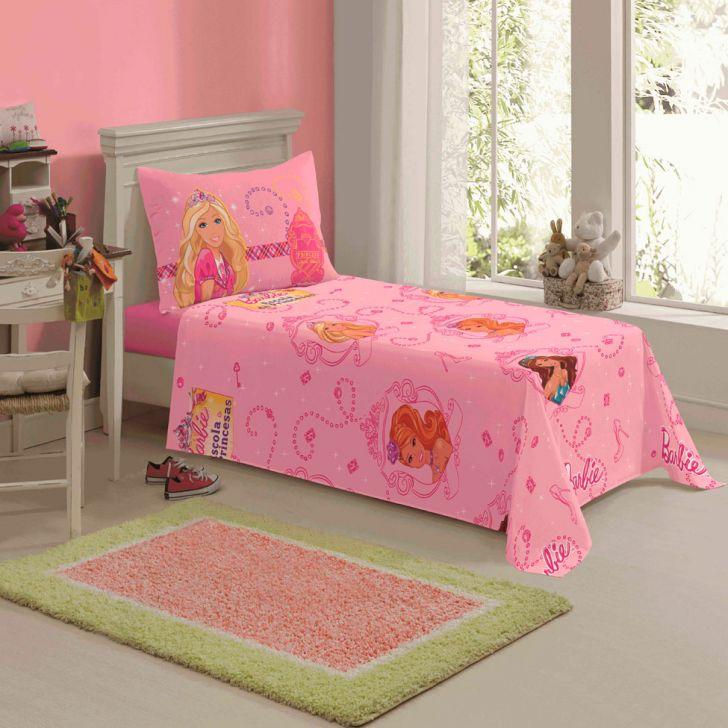 Jogo de cama Barbie Escola de Princesas c/ 3pçs