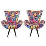 Jogo com 2 Poltronas Decorativa para Sala de Estar Floral 40156 - Lopes