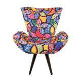 Poltrona Decorativa para Sala de Estar Floral 40156 - Lopes