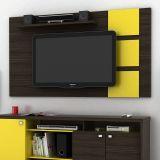Painel Para Tv Grecia Capuccino & Amarelo Lukaliam