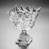 Fruteira de Cristal Com Pé Frozen 14,5cm Lyor Classic