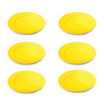 Jogo Com 6 Sousplat Amarelo Lyor Lyor Design