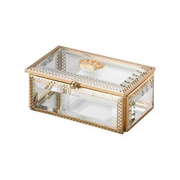Porta - Joias Dourado De Vidro Crown Lyor Lyor Classic