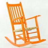 Cadeira de Balanço Mão e Formão Pestre Laranja