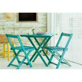 Jogo de Mesa com 2 Cadeiras Dobráveis Boteco - Azul