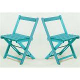 Kit 2 Cadeiras Dobráveis Boteco - Azul