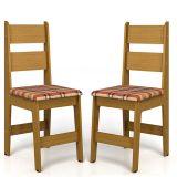 Kit 2 Cadeiras de Cozinha Milano Cerejeira Móveis Canção
