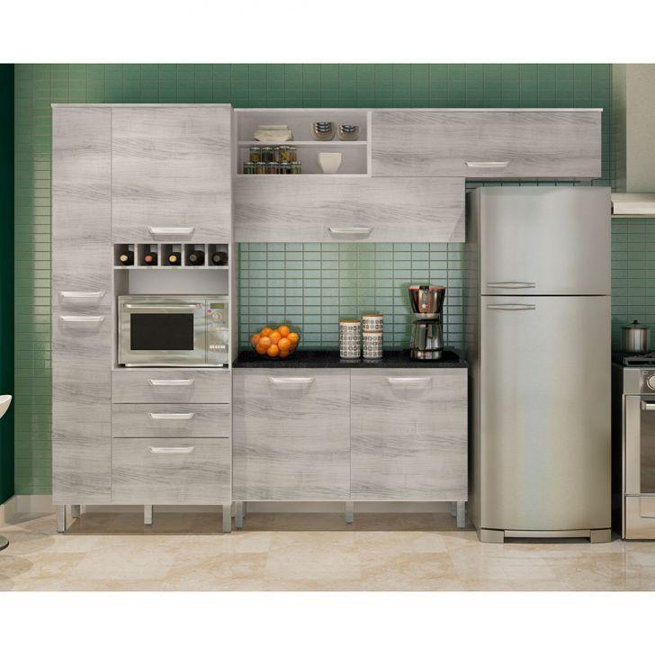Cozinha Compacta Diva Premium 7 PT 3 GAV Branco e Pérola Móveis Nesher DESCONTO DE R$: 730,00 (33,03% OFF) - OFERTA MOBLY