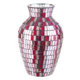 Vaso Mosaico Vermelho 25Cm Mabruk