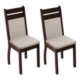 Cojunto 2 Cadeiras 4237A Tabaco & Perola Madesa
