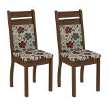 Conjunto 2 Cadeiras 4237X Rustic Com Floral Hibiscos
