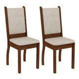 Conjunto 2 Cadeiras Viena Rustic e Suede Pérola