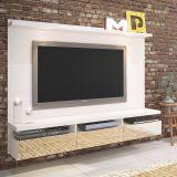 Painel para TV Lancaster  Branco Madesa