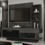 Home Theater Leo Grafite & Preto Madetec