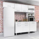 Cozinha Compacta Modulada Lorena 5 PT Branco Com Branco Madine Sem Balcão